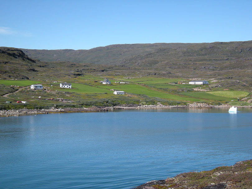 Ipiutaq guest farm, general overview from the fjord